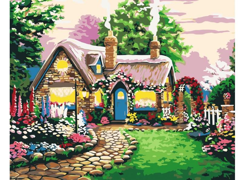 Раскраски по номерам - Картина «Сказочный домик», 40 х 50 см.Раскраски по номерам Schipper<br>Раскраски по номерам - Картина «Сказочный домик», 40 х 50 см.<br>