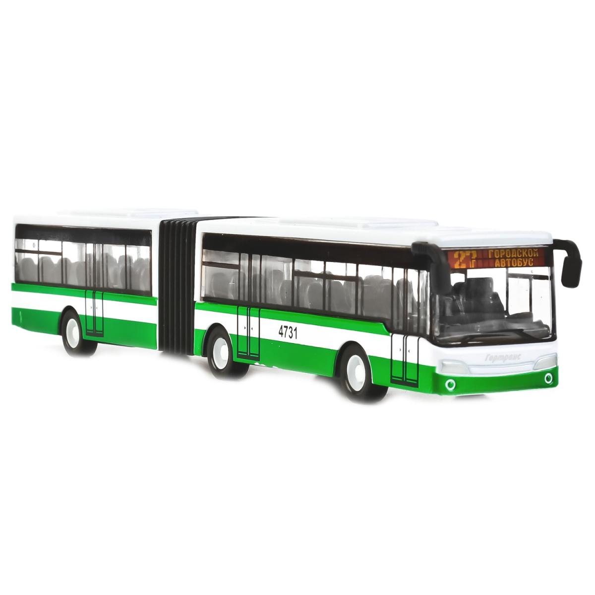 Купить Металлический инерционный автобус с гармошкой, Технопарк