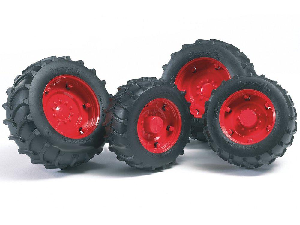 Шины для системы сдвоенных колес с красными дисками,Аксессуары<br>Шины для системы сдвоенных колес с красными дисками,<br>