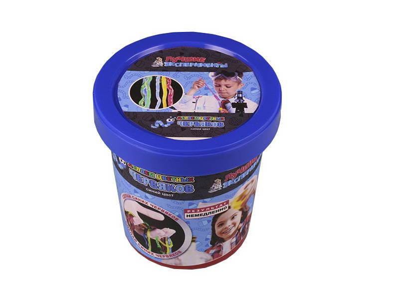 Купить Микро-набор для экспериментов - Делаем цветных червяков, синий, Лучшие эксперименты