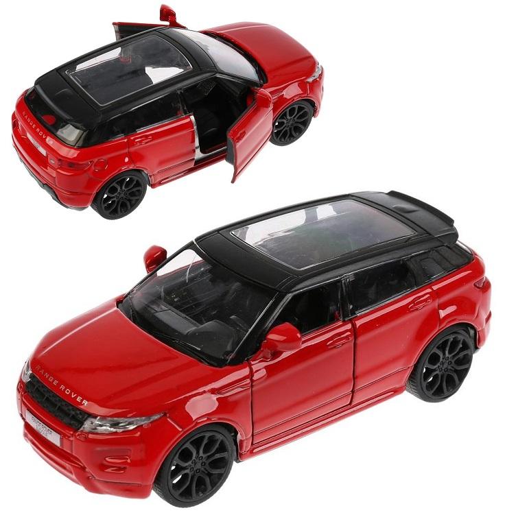 Купить Модель Land Rover Range Rover Evoque 12, 5 см, открываются двери, инерционный, красный, Технопарк