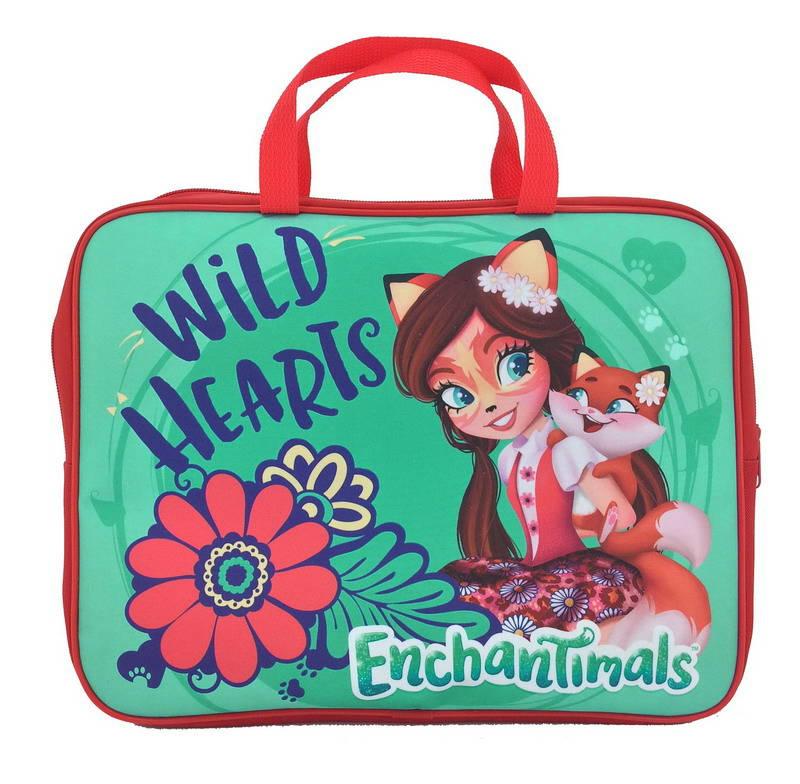 Купить Папка-сумка с ручкой - Enchantimals, формат А4, текстильная, Centrum