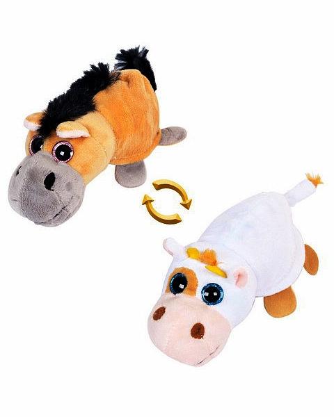 Мягкая игрушка - Перевертыши - Лошадка/Корова, 16 смЖивотные<br>Мягкая игрушка - Перевертыши - Лошадка/Корова, 16 см<br>