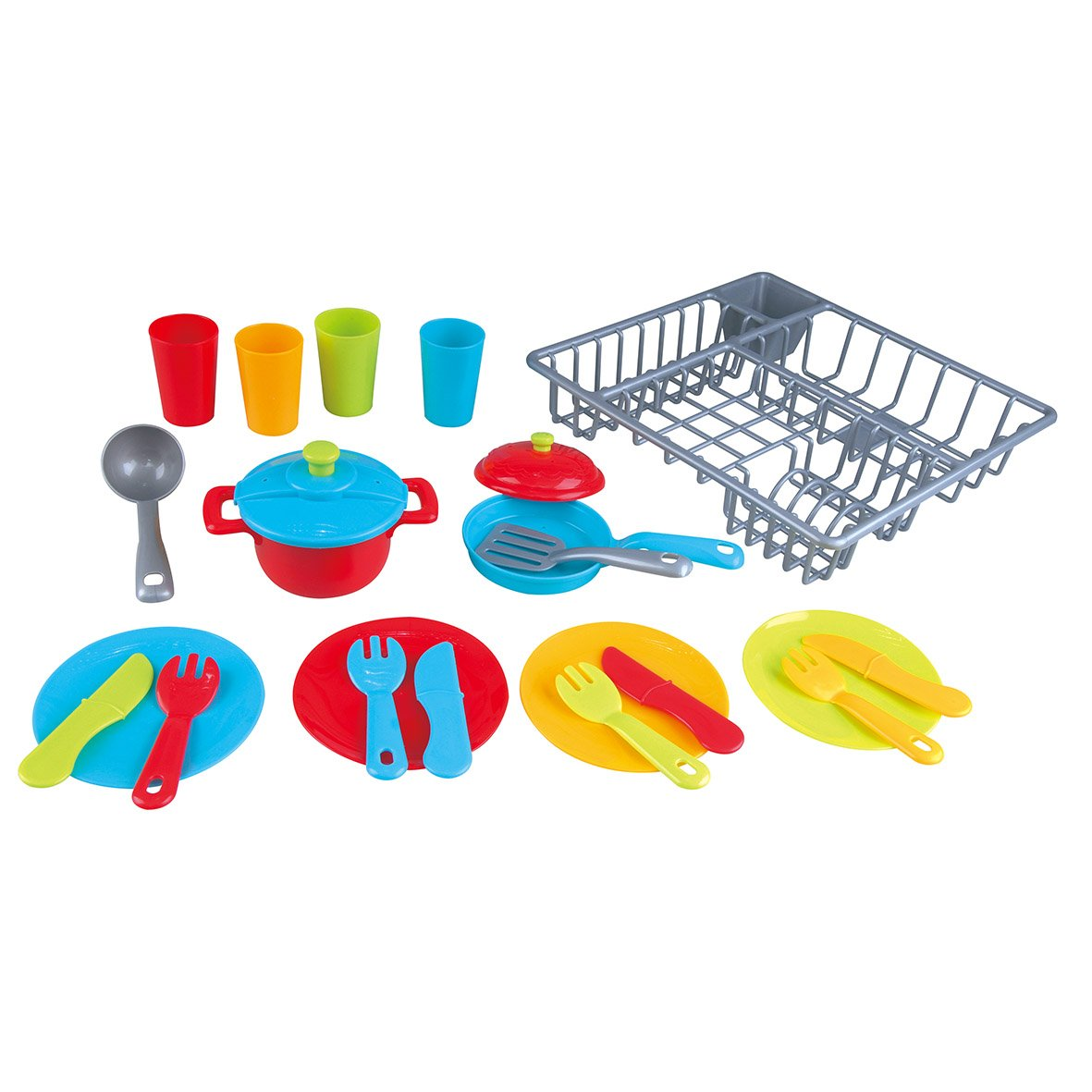 Игровой набор - сушилка с посудой, 23 предметаАксессуары и техника для детской кухни<br>Игровой набор - сушилка с посудой, 23 предмета<br>