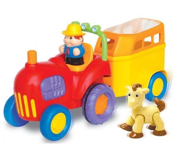 Купить Игровой развивающий центр - трактор с лошадкой, Kiddieland