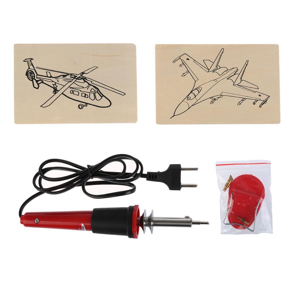 Купить Набор для выжигания: выжигательный аппарат, 6 насадок, 2 эскиза серия Воздушная Техника, Multiart