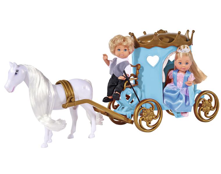 Кукла Еви и Тимми в карете, 12 см.Куклы Еви<br>Кукла Еви и Тимми в карете, 12 см.<br>