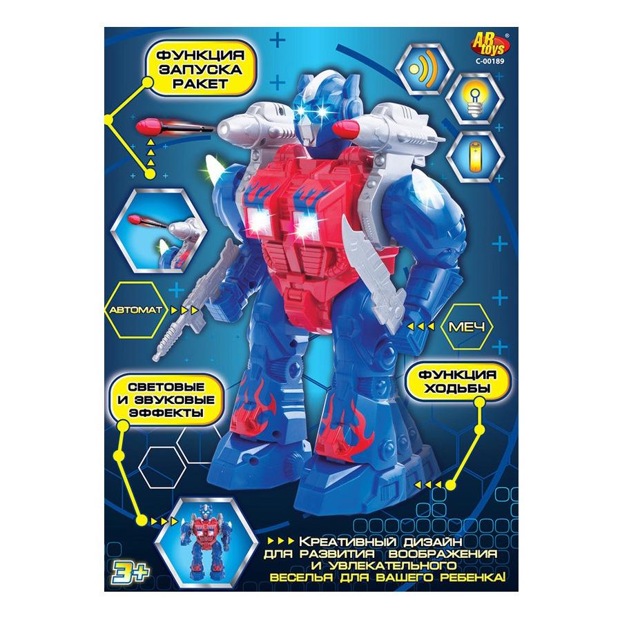 Робот с функцией ходьбы и запуска ракет, со световыми и звуковыми эффектамиРоботы, Воины<br>Робот с функцией ходьбы и запуска ракет, со световыми и звуковыми эффектами<br>