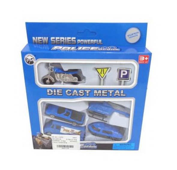 Купить Набор металлических машинок – Полиция, 7 предметов, JUNFA TOYS