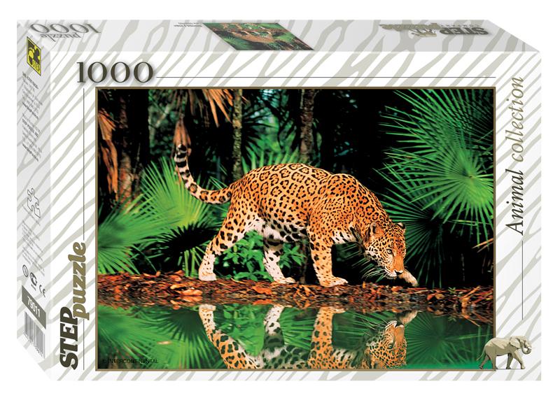 Пазл Леопард у воды, 1000 элементовПазлы 1000 элементов<br>Пазл Леопард у воды, 1000 элементов<br>