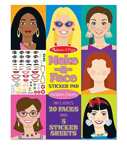 Набор стикеров - Лица из серии ТворчествоНаклейки<br>Набор стикеров - Лица из серии Творчество<br>