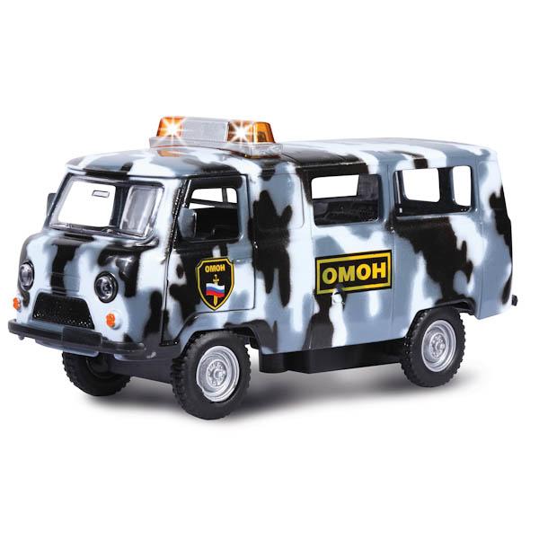 Инерционная машина УАЗ-396259 Омон, свет, звукПолицейские машины<br>Инерционная машина УАЗ-396259 Омон, свет, звук<br>