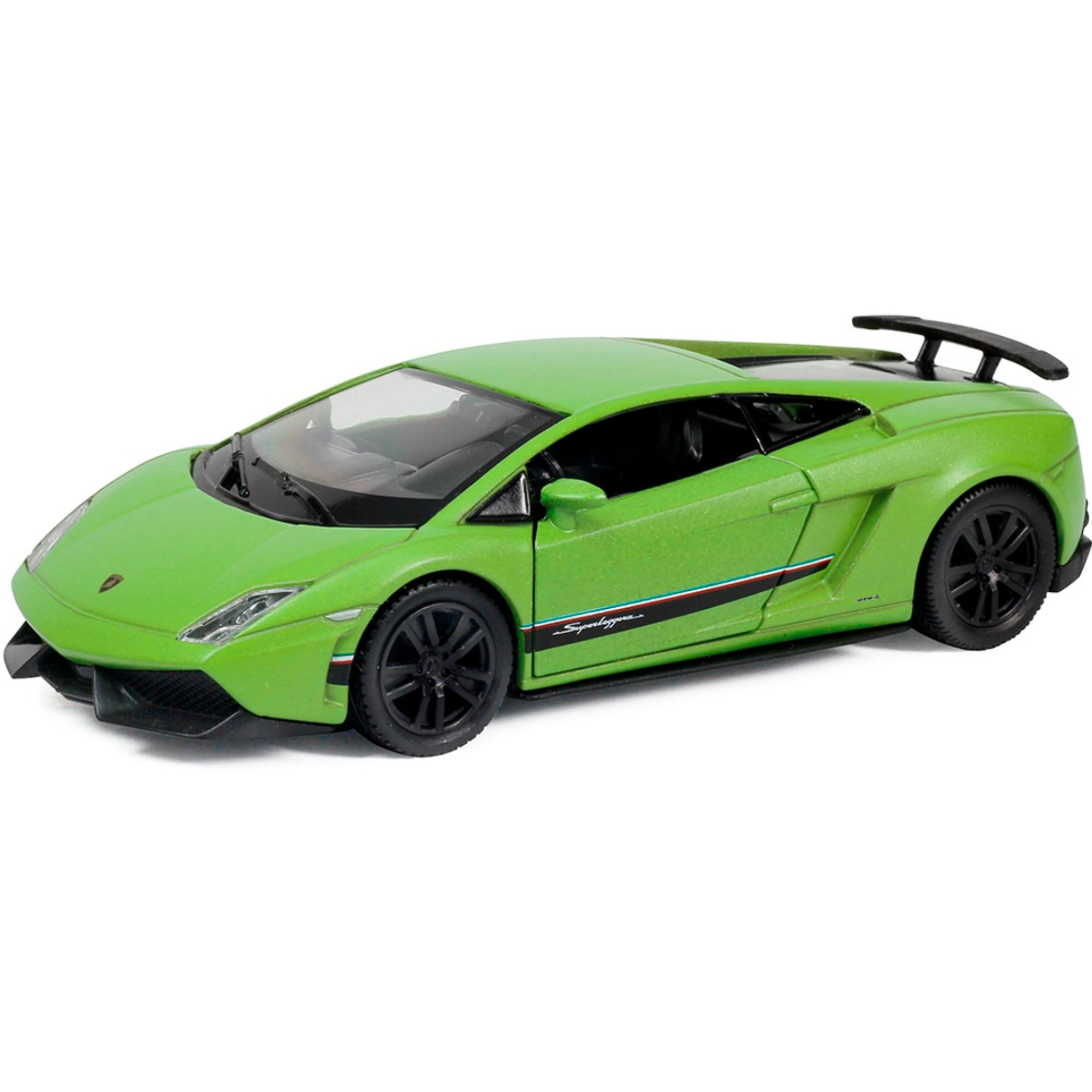 Купить Металлическая инерционная машина RMZ City - Lamborghini Gallardo Superleggera, 1:32, зеленый матовый