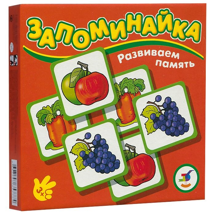 Игра настольная – Запоминайка Овощи и фруктыДля самых маленьких<br>Игра настольная – Запоминайка Овощи и фрукты<br>