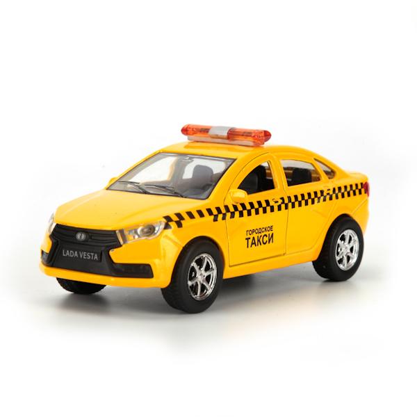 Купить Машина инерционная – Автоваз Лада Веста Такси, 12 см., открываются двери, Технопарк