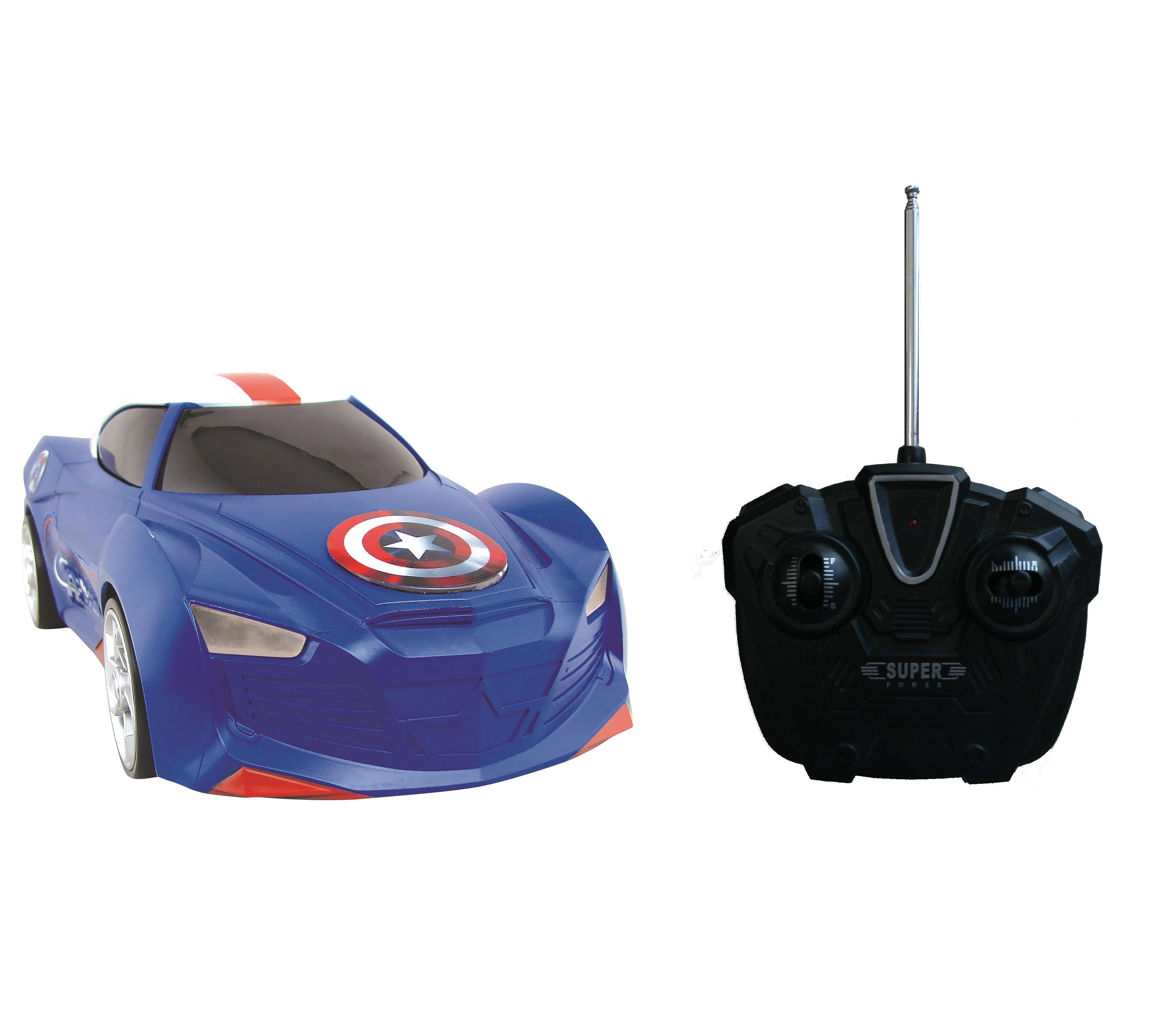 """картинка Радиоуправляемая машинка из серии """"Мстители"""" - Капитан Америка, 1:16 от магазина Bebikam.ru"""