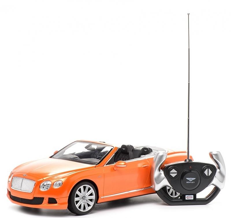 картинка Машина на р/у – Bentley Continetal GT, 1:12, оранжевый от магазина Bebikam.ru