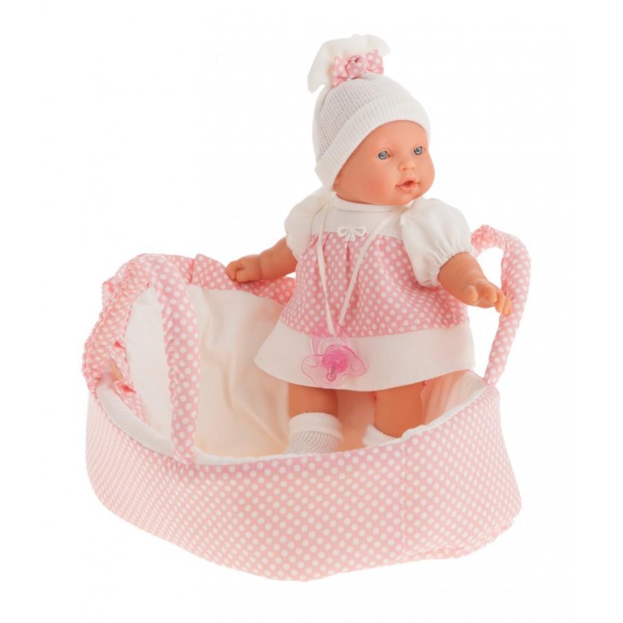 Купить Интерактивная кукла Лана в корзине, 27 см, Antonio Juans Munecas