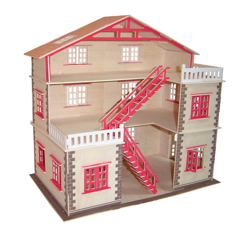 Модель деревянная сборная  Кукольный домик - Пазлы, артикул: 170351