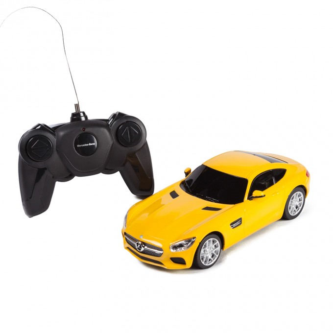 Машина на радиоуправлении Mercedes AMG GT3, цвет жёлтый 27MHZ, 1:24 фото