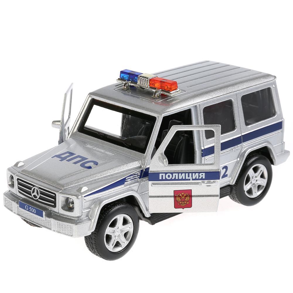 Купить Металлическая инерционная машина – Mercedes-Benz G-Class Полиция, 12 см, свет и звук, Технопарк