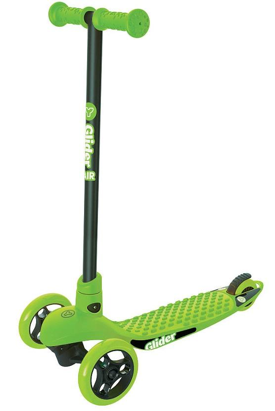 Самокат YVolution Glider AIR с антискользящей платформой, цвет – зеленый, 100810Трехколесные самокаты<br>Самокат YVolution Glider AIR с антискользящей платформой, цвет – зеленый, 100810<br>