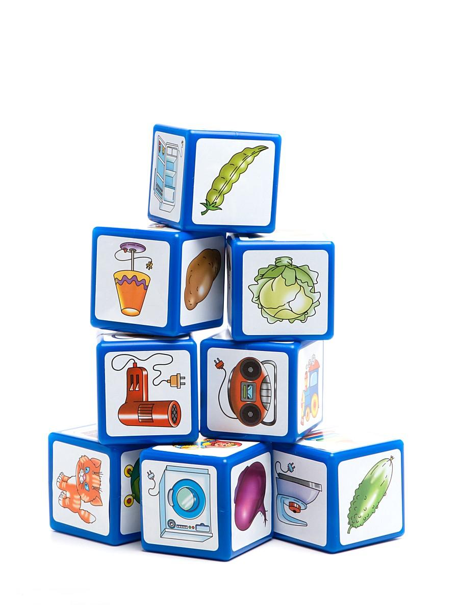 Кубики-лото, 9 больших кубиков и книжкаКубики<br>Кубики-лото, 9 больших кубиков и книжка<br>