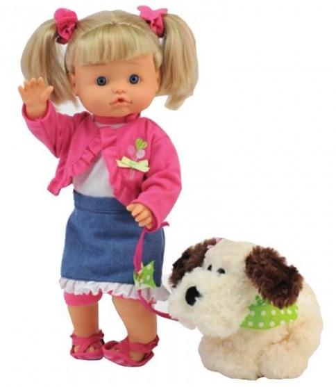 Кукла Нена Bambolina 36 см. с собачкой