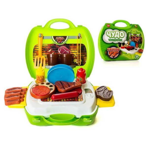 Игровой набор - Чудо-чемоданчик - Гриль, 23 предметаАксессуары и техника для детской кухни<br>Игровой набор - Чудо-чемоданчик - Гриль, 23 предмета<br>