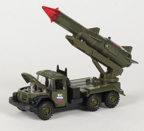 Металлическая инерционная машинка - Зил 131 Ракета. Вооружённые силыВоенная техника<br>Металлическая инерционная машинка - Зил 131 Ракета. Вооружённые силы<br>