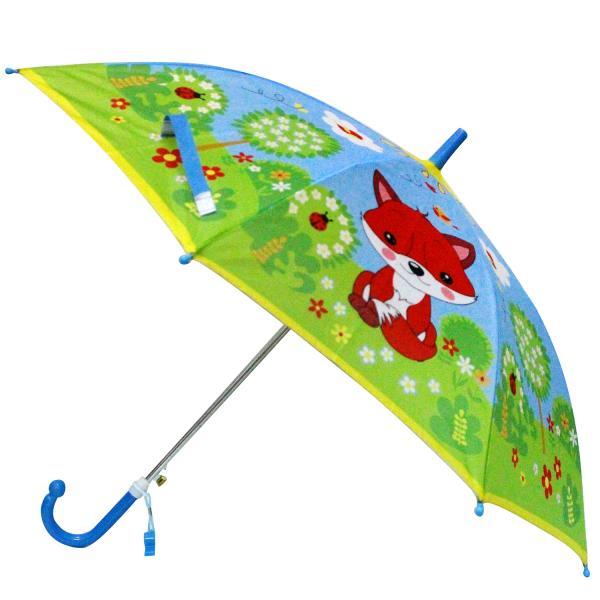 Детский зонт со свистком - Лисички, диаметр 45 смДетские зонты<br>Детский зонт со свистком - Лисички, диаметр 45 см<br>