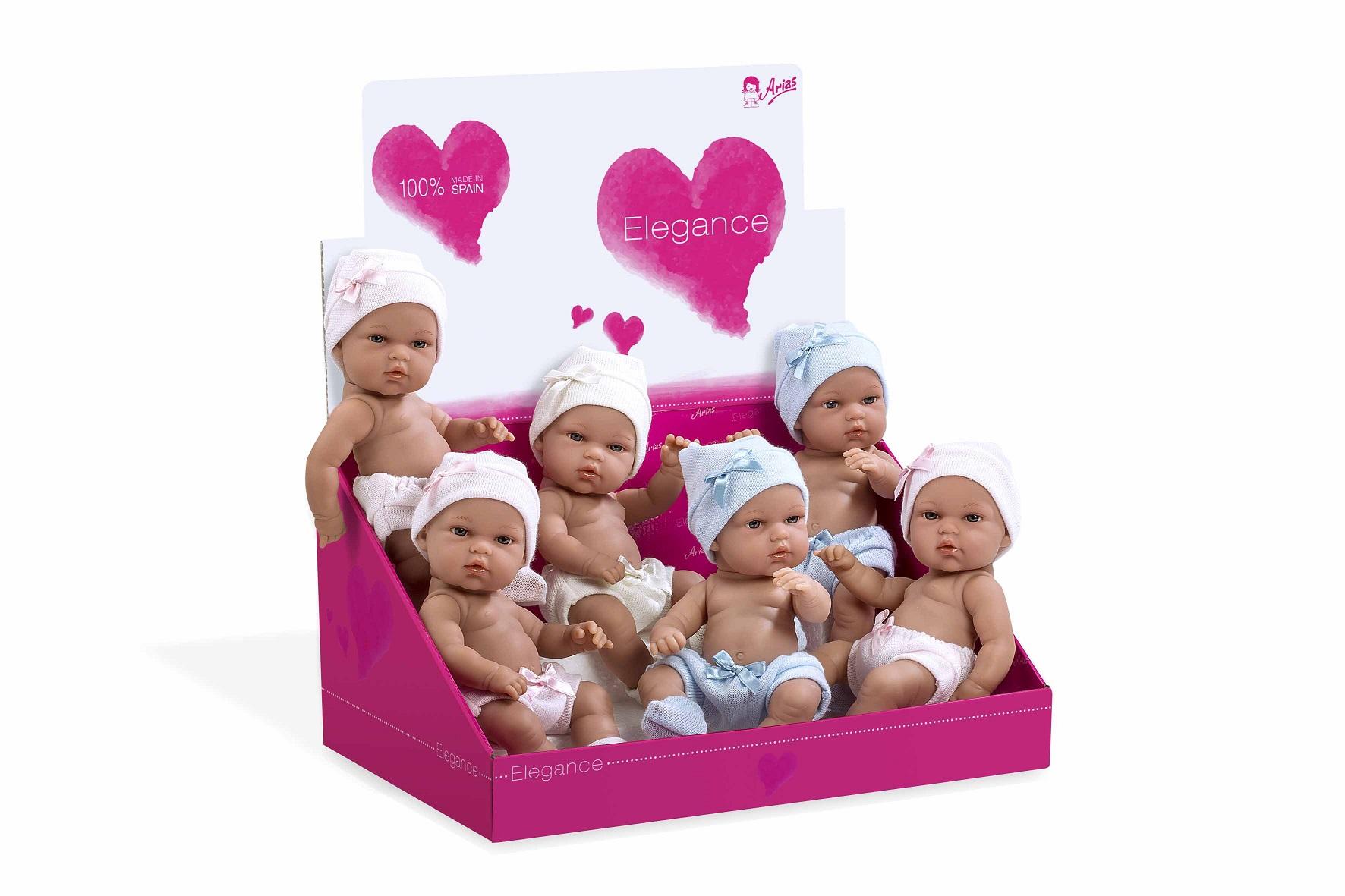 Купить Кукла из серии Arias Elegance, виниловая, в шапочке с бантиком, 33 см., 6 видов