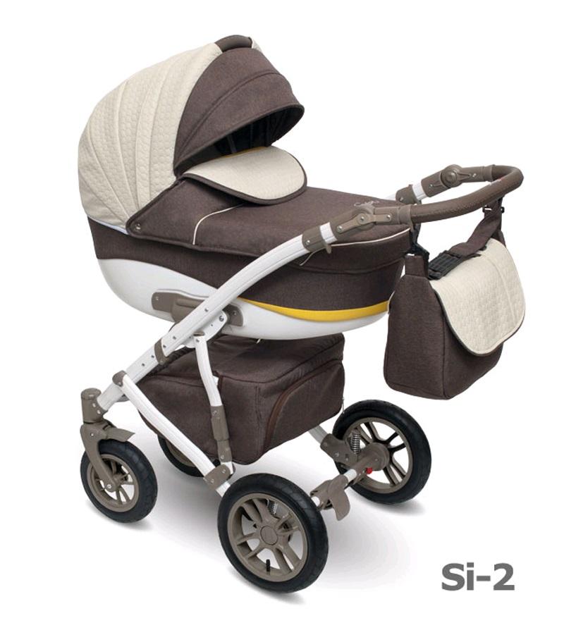 Детская коляска Camarelo Sirion 2 в 1, цвет - Si_02Детские коляски 2 в 1<br>Детская коляска Camarelo Sirion 2 в 1, цвет - Si_02<br>