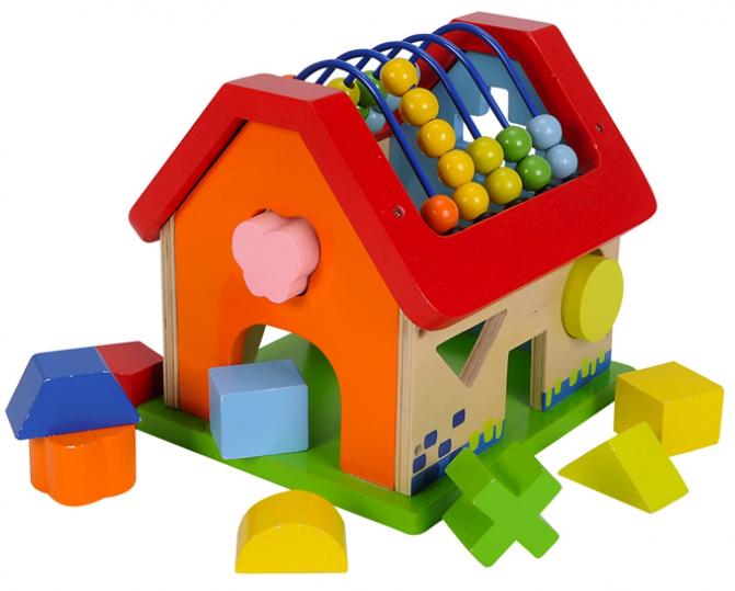 Развивающая игрушка – Домик с сортером и счетамиСортеры, пирамидки<br>Развивающая игрушка – Домик с сортером и счетами<br>