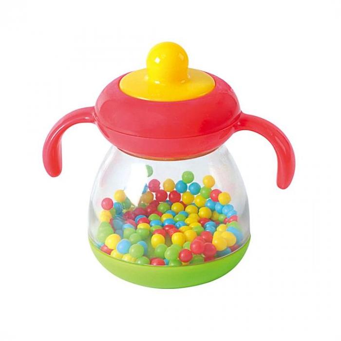Игрушка развивающая - Бутылочка c шарикамиДетские погремушки и подвесные игрушки на кроватку<br>Игрушка развивающая - Бутылочка c шариками<br>