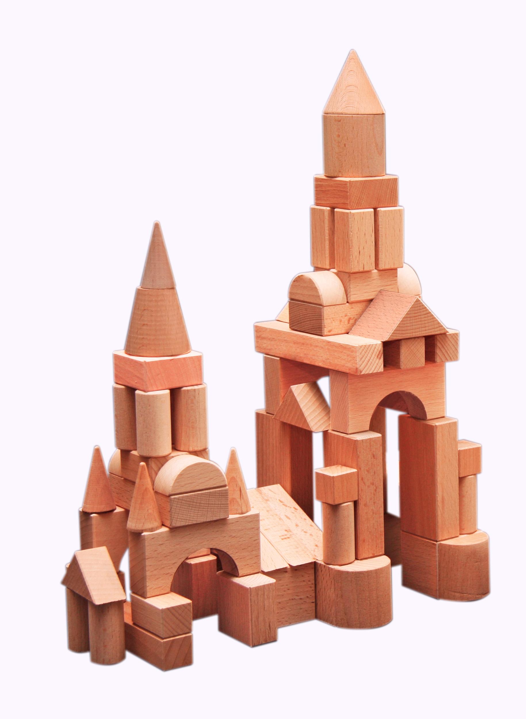 Конструктор деревянный не окрашенный по программе - Развитие, 75 деталейКубики<br>Конструктор деревянный не окрашенный по программе - Развитие, 75 деталей<br>