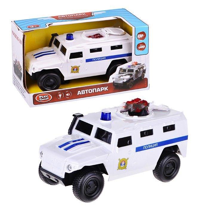 Инерционная машина – Полиция, со световыми и звуковыми эффектамиПолицейские машины<br>Инерционная машина – Полиция, со световыми и звуковыми эффектами<br>
