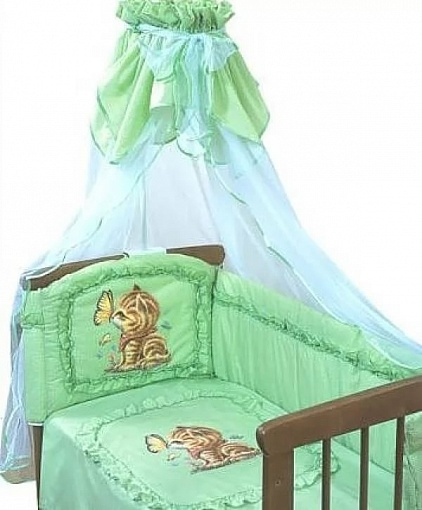 Комплект – Аленка, зеленыйДетское постельное белье<br>Комплект – Аленка, зеленый<br>