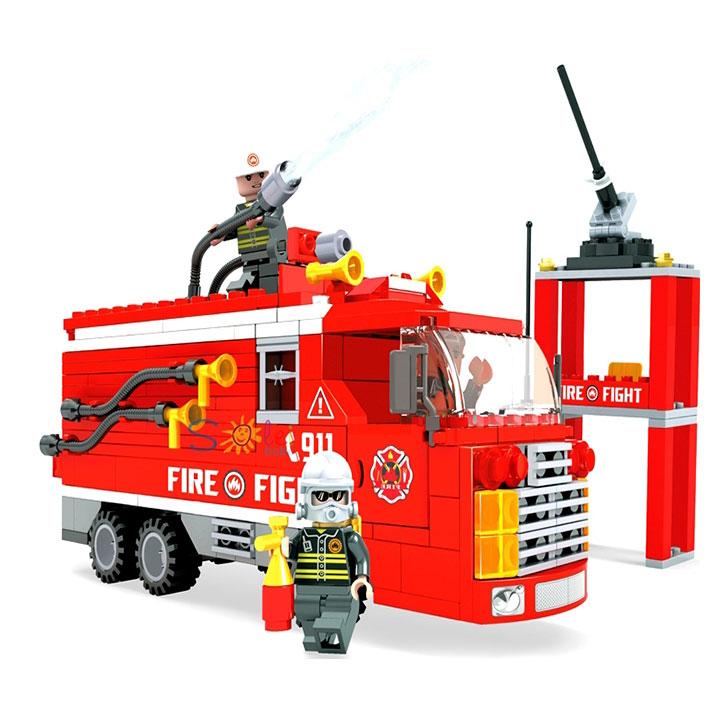 Конструктор Пожарная бригада. Пожарная машина, 309 деталейКонструкторы других производителей<br>Конструктор Пожарная бригада. Пожарная машина, 309 деталей<br>