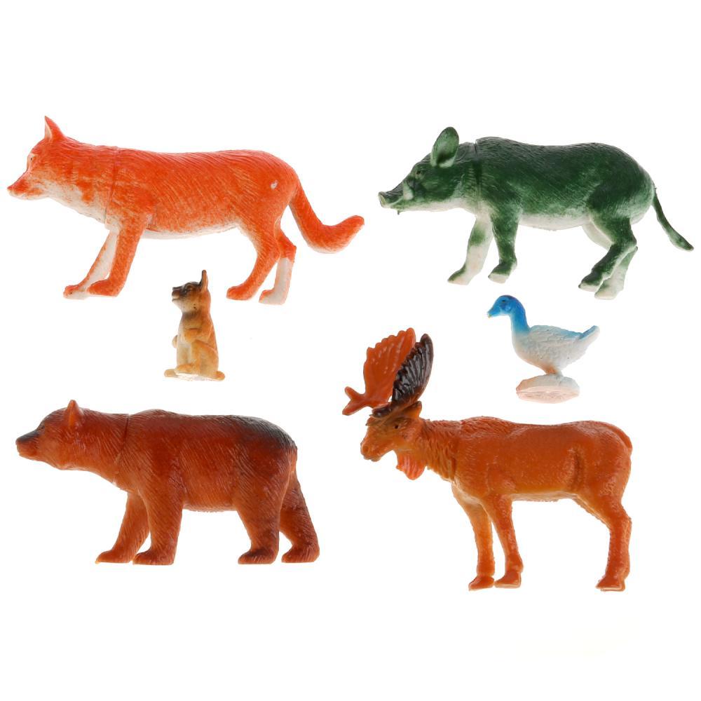 Купить Набор из 6-и лесных животных, Играем вместе