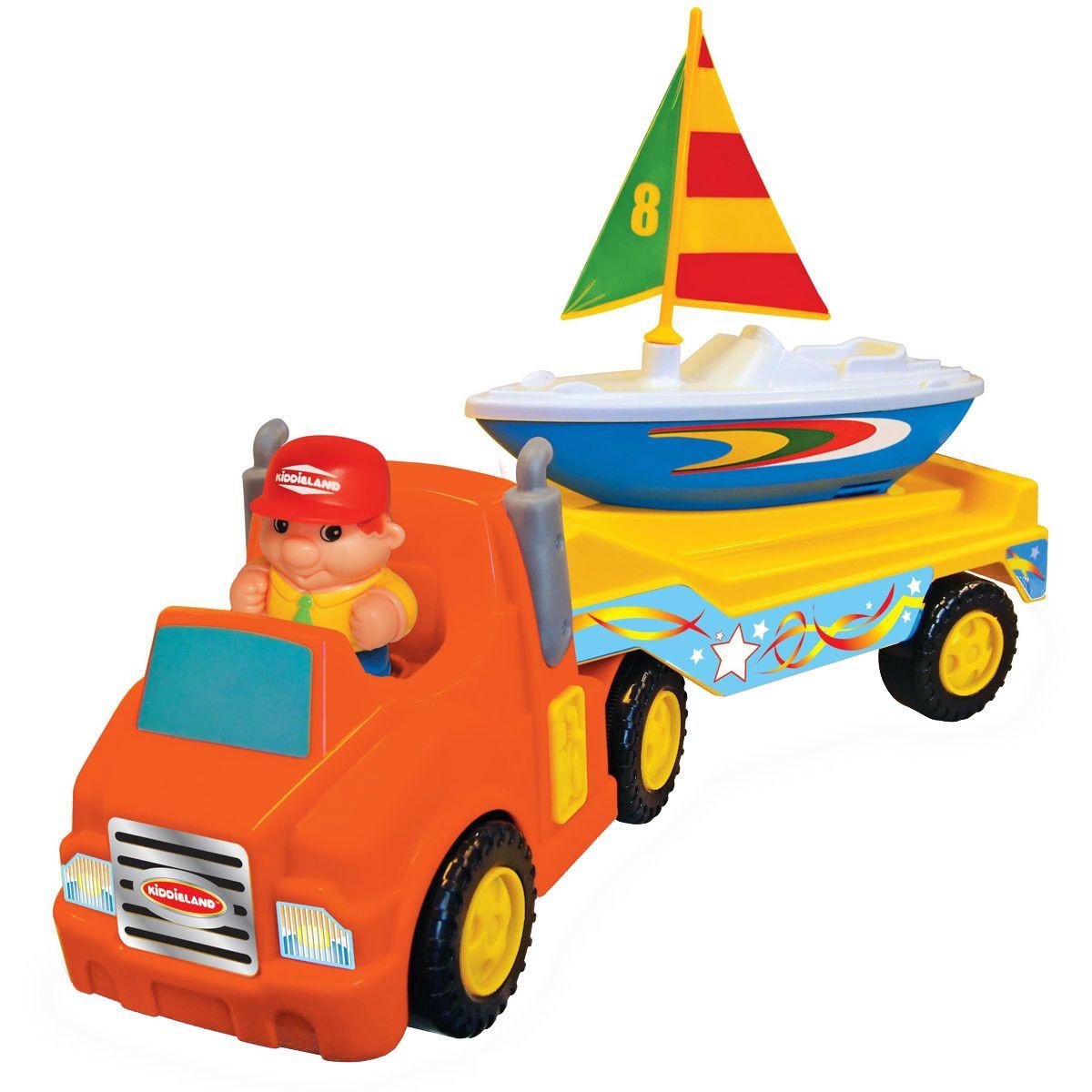 Развивающая игрушка Трейлер с яхтойРазвивающие игрушки KIDDIELAND<br>Развивающая игрушка Трейлер с яхтой<br>