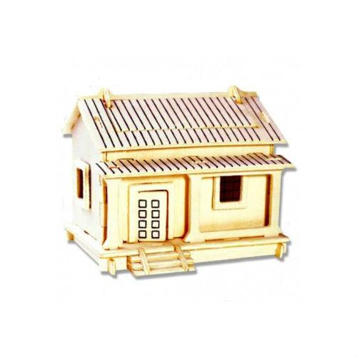 Модель деревянная сборная - ИзбушкаПазлы объёмные 3D<br>Модель деревянная сборная - Избушка<br>