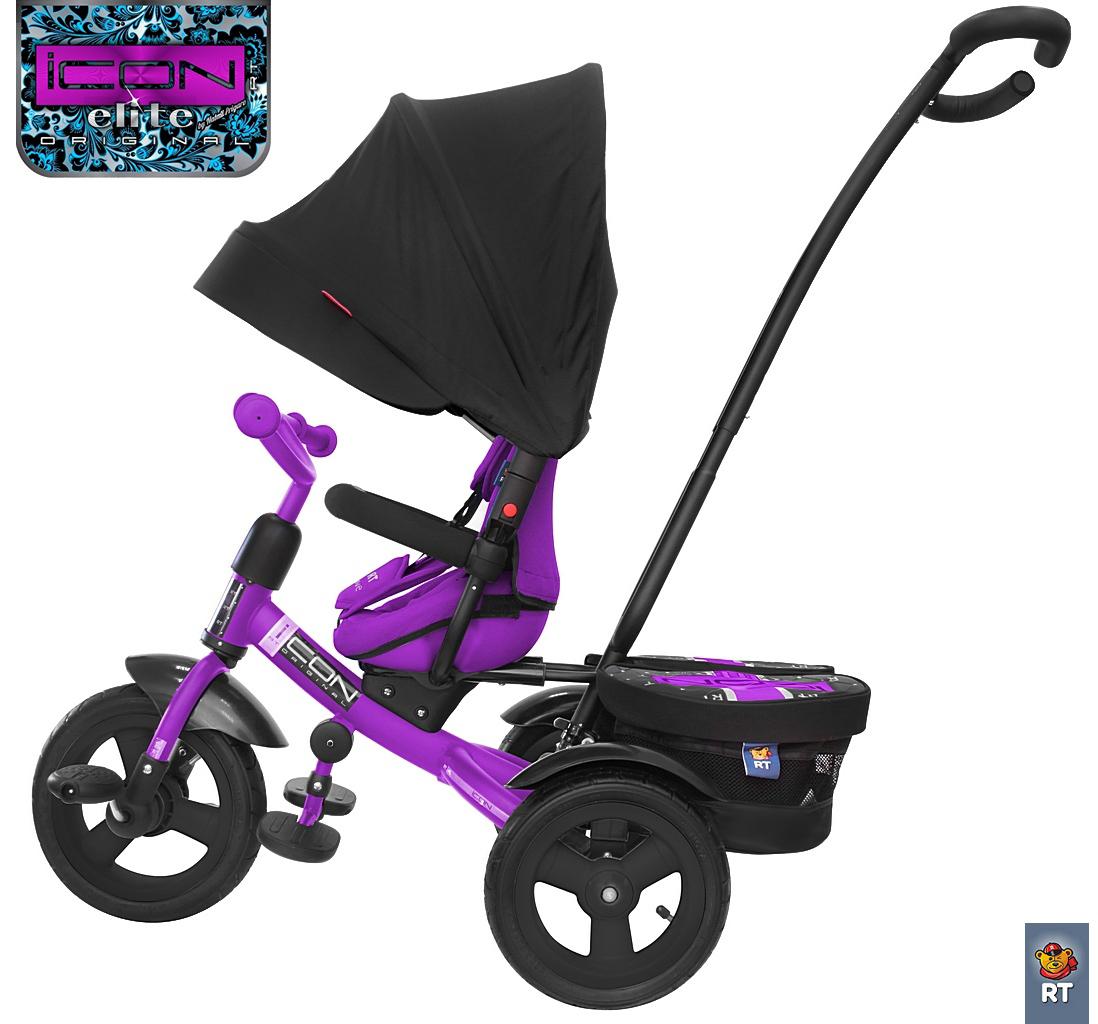 Велосипед трехколесный с ручкой RT Icon elite Stroller by Natali Prigaro Crystal