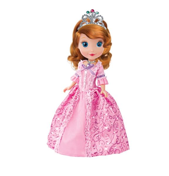 Кукла Disney - Принцесса София, с кроликом и дневников, 25 смКуклы Карапуз<br>Кукла Disney - Принцесса София, с кроликом и дневников, 25 см<br>