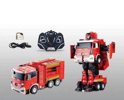 Робот на р/у, трансформируется в пожарную машинуРоботы на радиоуправлении<br>Робот на р/у, трансформируется в пожарную машину<br>