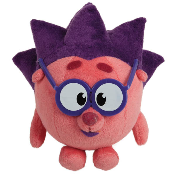 Озвученная мягкая игрушка - Ежик из мультфильма - Смешарики, 10 см