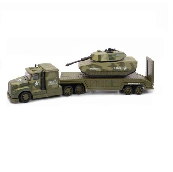 Военный перевозчик с танком, 28 см.Военная техника<br>Военный перевозчик с танком, 28 см.<br>