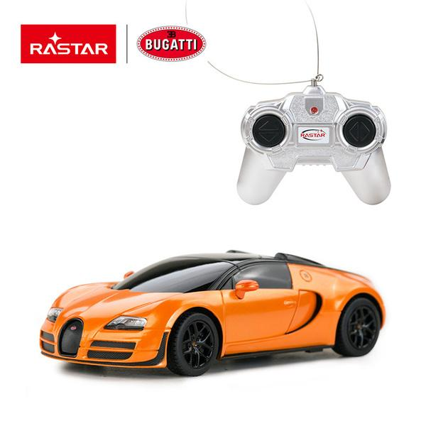 картинка Машина на радиоуправлении 1:24 Bugatti Grand Sport Vitesse, цвет – оранжевый от магазина Bebikam.ru