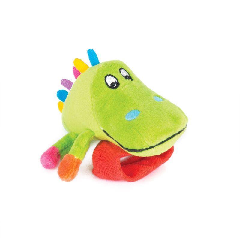 Купить Игрушка-погремушка на ручку - Крокодил Кроко, Happy Snail