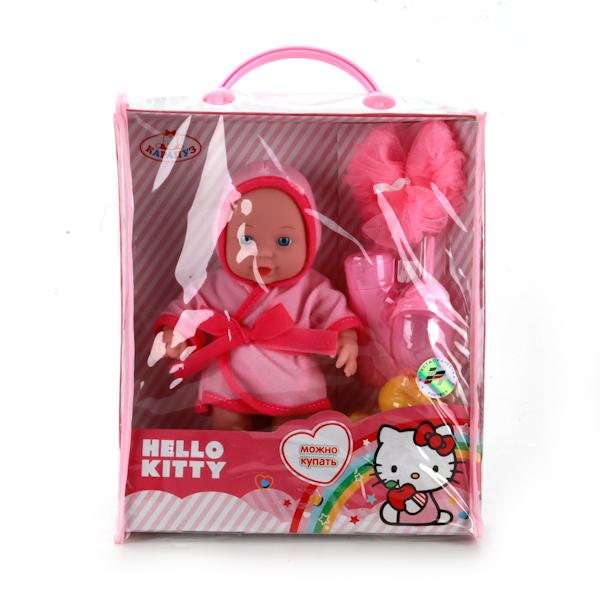 Пупс - Hello Kitty с аксессуарами для купания, 20 смКуклы Карапуз<br>Пупс - Hello Kitty с аксессуарами для купания, 20 см<br>